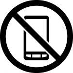 スマートフォン・携帯電話の使用禁止マークのカッティングシートステッカー