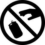 缶の破棄禁止マークのカッティングシートステッカー