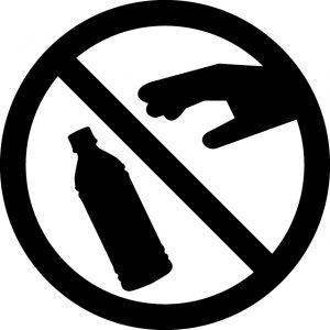 ペットボトルの破棄禁止マークのカッティングシートステッカー