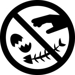 生ゴミの破棄禁止マークのカッティングシートステッカー