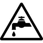 節水注意マークのカッティングシートステッカー