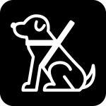 介護犬案内マークのカッティングシートステッカー