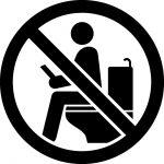 トイレ内のゲーム・読書・長居禁止マークのカッティングステッカーシール