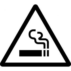 タバコの火注意マークのカッティングステッカーシール