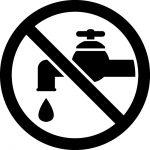 水道の使用禁止マークのカッティングステッカーシール