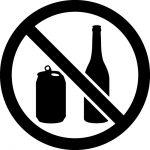 缶・ビン禁止マークのカッティングステッカーシール