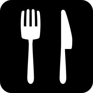 飲食店 レストラン 案内マークのカッティングステッカーシール