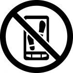 歩きスマホ禁止マークのカッティングシートステッカー