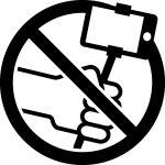 自撮り棒禁止マークのカッティングシートステッカー