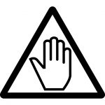 触るな・STOP注意マークのカッティングシートステッカー