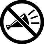 応援・コール禁止マークのカッティングシートステッカー