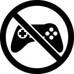 ゲーム禁止マークのカッティングシートステッカー