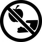 果物採取禁止マークのカッティングシートステッカー