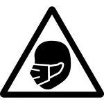 マスク着用注意マークのカッティングシートステッカー