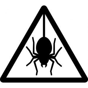 蜘蛛・害虫注意マークのカッティングシートステッカー