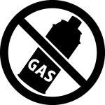 ガス使用禁止マークのカッティングシートステッカー