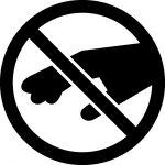 さわるな・窃盗・万引き禁止マークのカッティングシートステッカー