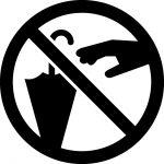 傘の窃盗禁止マークのカッティングシートステッカー