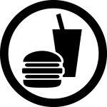 飲食OKマークのカッティングシートステッカー