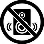 スピーカー禁止マークのカッティングシートステッカー