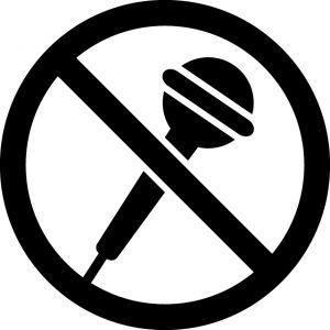 マイク・カラオケ禁止マークのカッティングシートステッカー