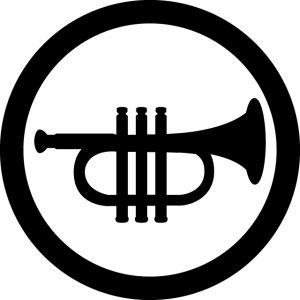 楽器演奏OKマークのカッティングシートステッカー