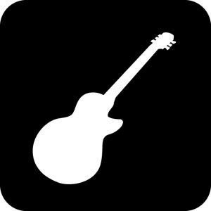 ギター・ライブ等の案内マークのカッティングシートステッカー