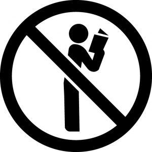 立ち読み禁止マークのカッティングシートステッカー