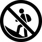 登山禁止マークのカッティングシートステッカー