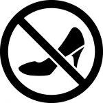 ハイヒール禁止マークのカッティングシートステッカー