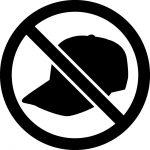 帽子・キャップ着用禁止マークのカッティングシートステッカー