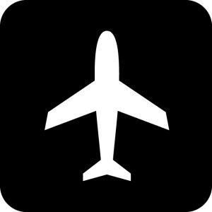 飛行機・空港案内マークのカッティングシートステッカー