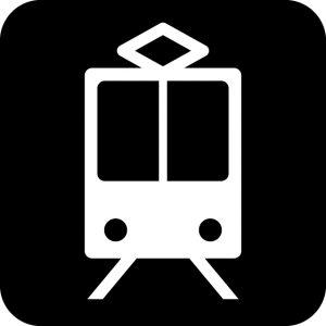 電車案内マークのカッティングシートステッカー