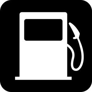 ガソリンスタンド案内マークのカッティングシートステッカー