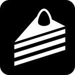 ケーキ・軽食案内マークのカッティングシートステッカー