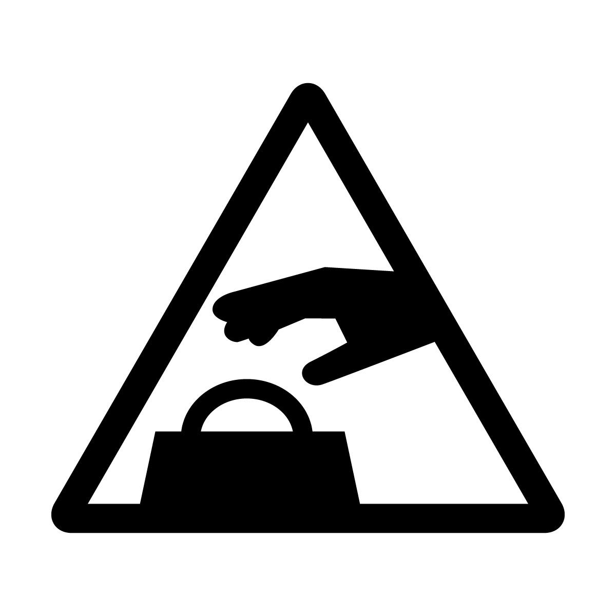 黒い置引き注意マークのカッティングシートステッカー