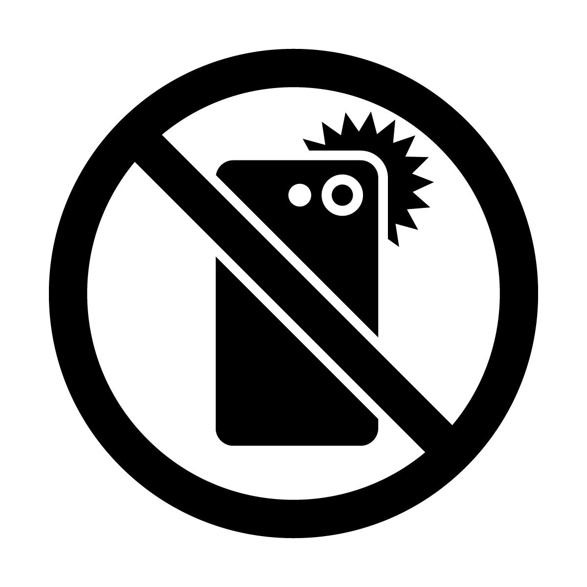 黒色のスマホ撮影禁止マークのカッティングシートステッカー