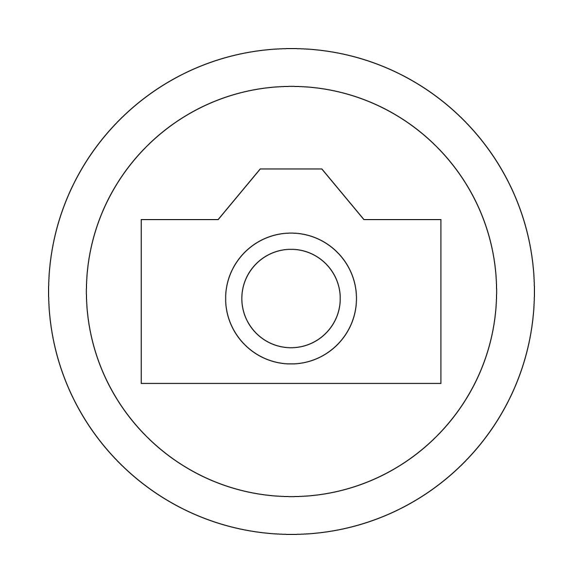白い撮影を許可するマークのカッティングステッカー