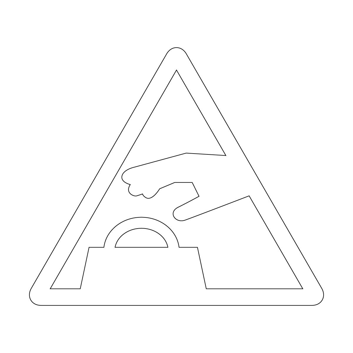 白い置引き注意マークのカッティングシートステッカー