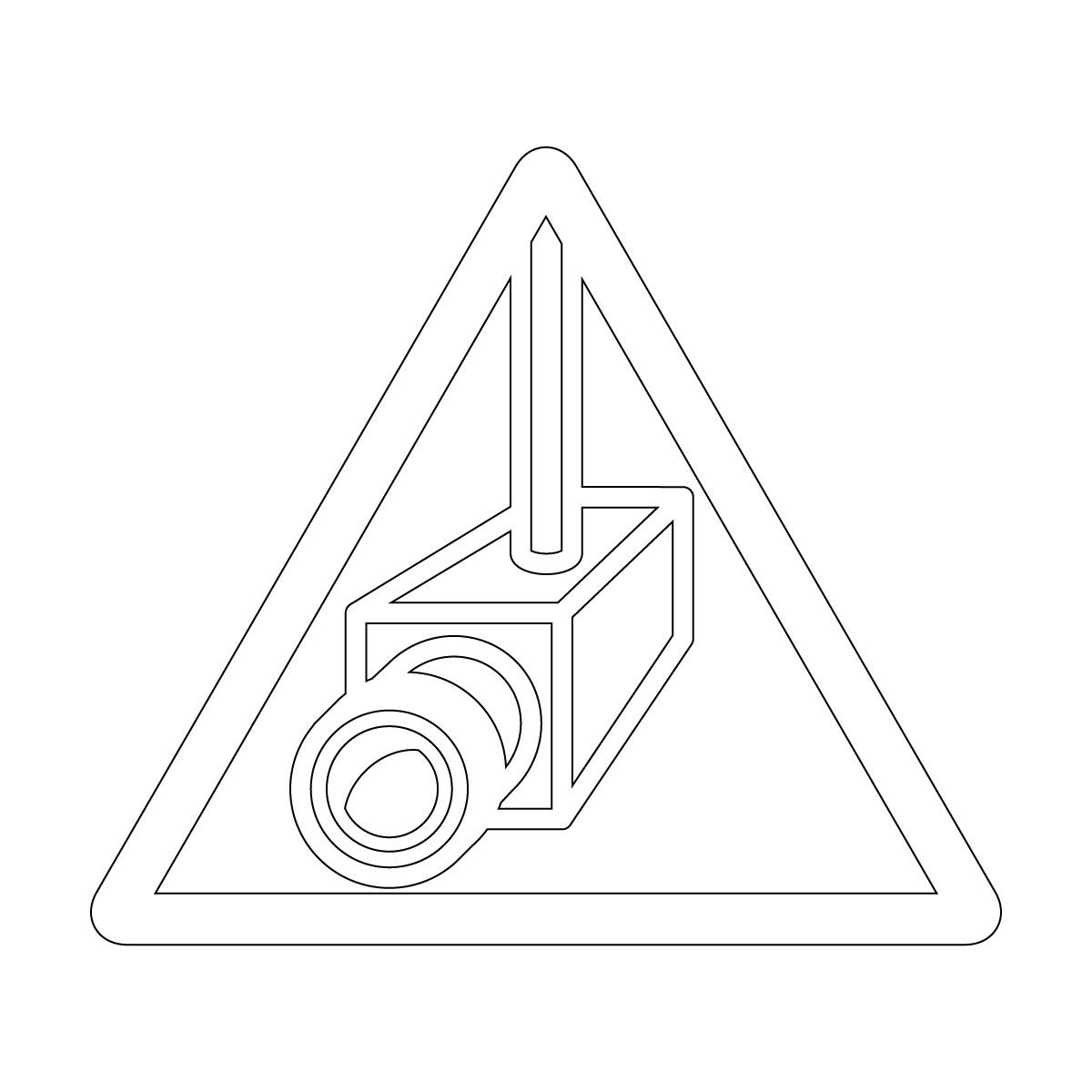白い防犯カメラ・盗難抑止の注意マーク