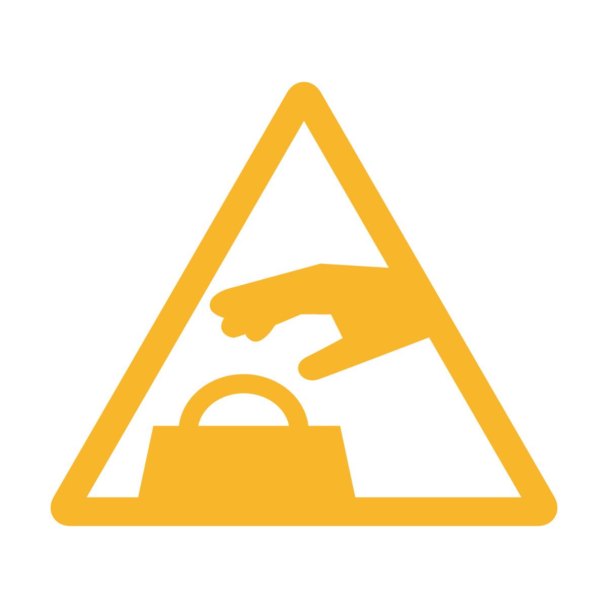 黄色い置引き注意マークのカッティングシートステッカー