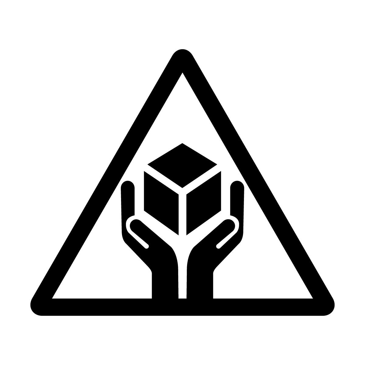 黒色の商品 配送 取扱い注意 シール ステッカー カッティングステッカー (矢印付き) 光沢タイプ・防水 耐水・屋外耐候3~4年