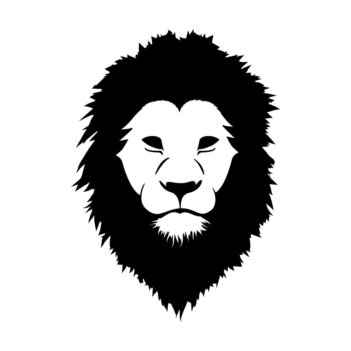 黒色のライオン シール ステッカー カッティングステッカー かっこいい 獅子 光沢タイプ・防水 耐水・屋外耐候3~4年
