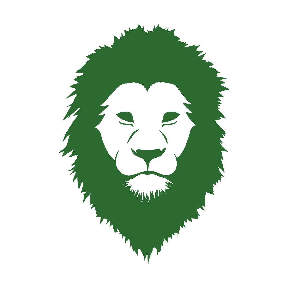 緑色のライオン シール ステッカー カッティングステッカー かっこいい 獅子 光沢タイプ・防水 耐水・屋外耐候3~4年
