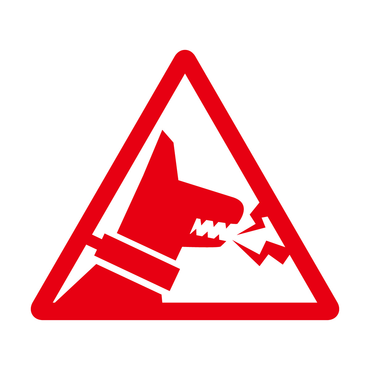 赤色の猛犬 犬 吠える 噛みつき 注意 防犯 シール ステッカー カッティングステッカー