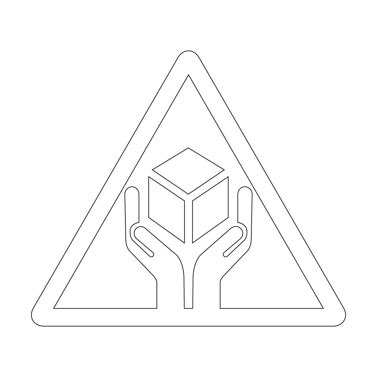 白色の商品 配送 取扱い注意 シール ステッカー カッティングステッカー (矢印付き) 光沢タイプ・防水 耐水・屋外耐候3~4年