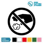 ゴミのポイ捨て禁止マークのカッティング ステッカー シール