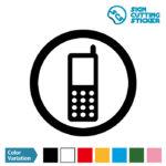 携帯電話の使用許可・通話OKマークのカッティング ステッカー シール