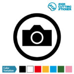 写真OK・撮影を許可するマークのカッティングステッカー