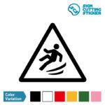 足元の滑り・横転注意標識のカッティング ステッカー シール
